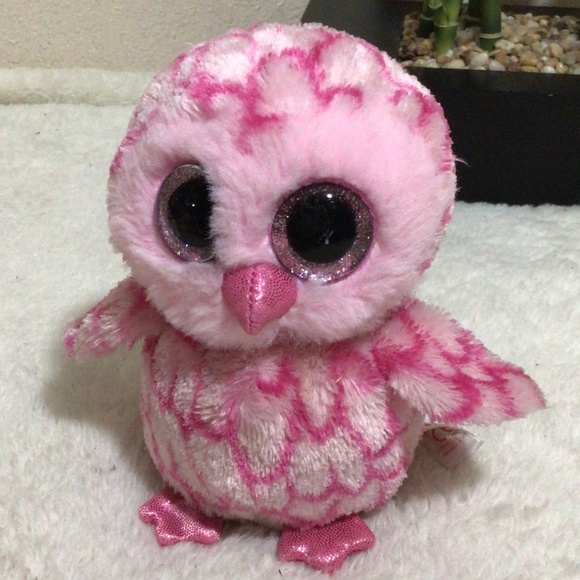 3/$10 Ty Beanie Boo's Pinky the Owl